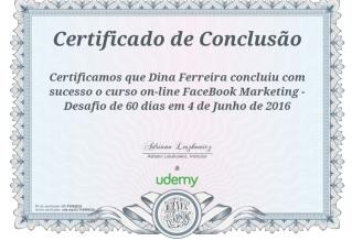 Certificado de Curso de facebook