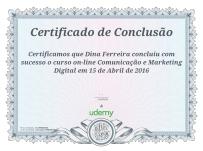 Certificado de Curso de Marketing