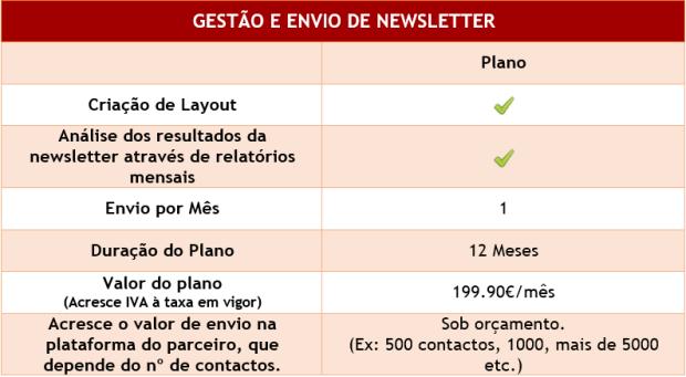 Realizo a gestão e envio de newsletter para pequenas ou médias empresas.
