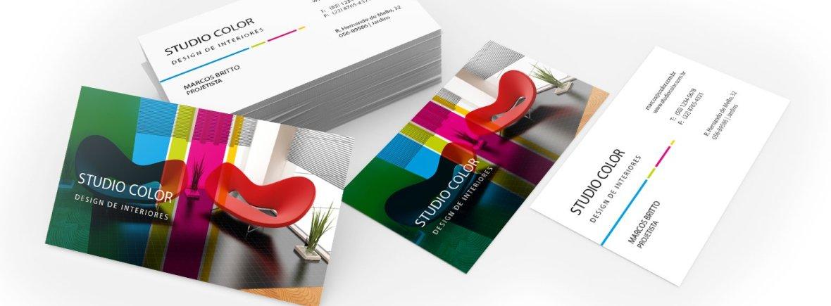 Criação e/ou Impressão de Cartões de Visita económicos.