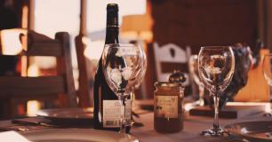 vinho e uma compota