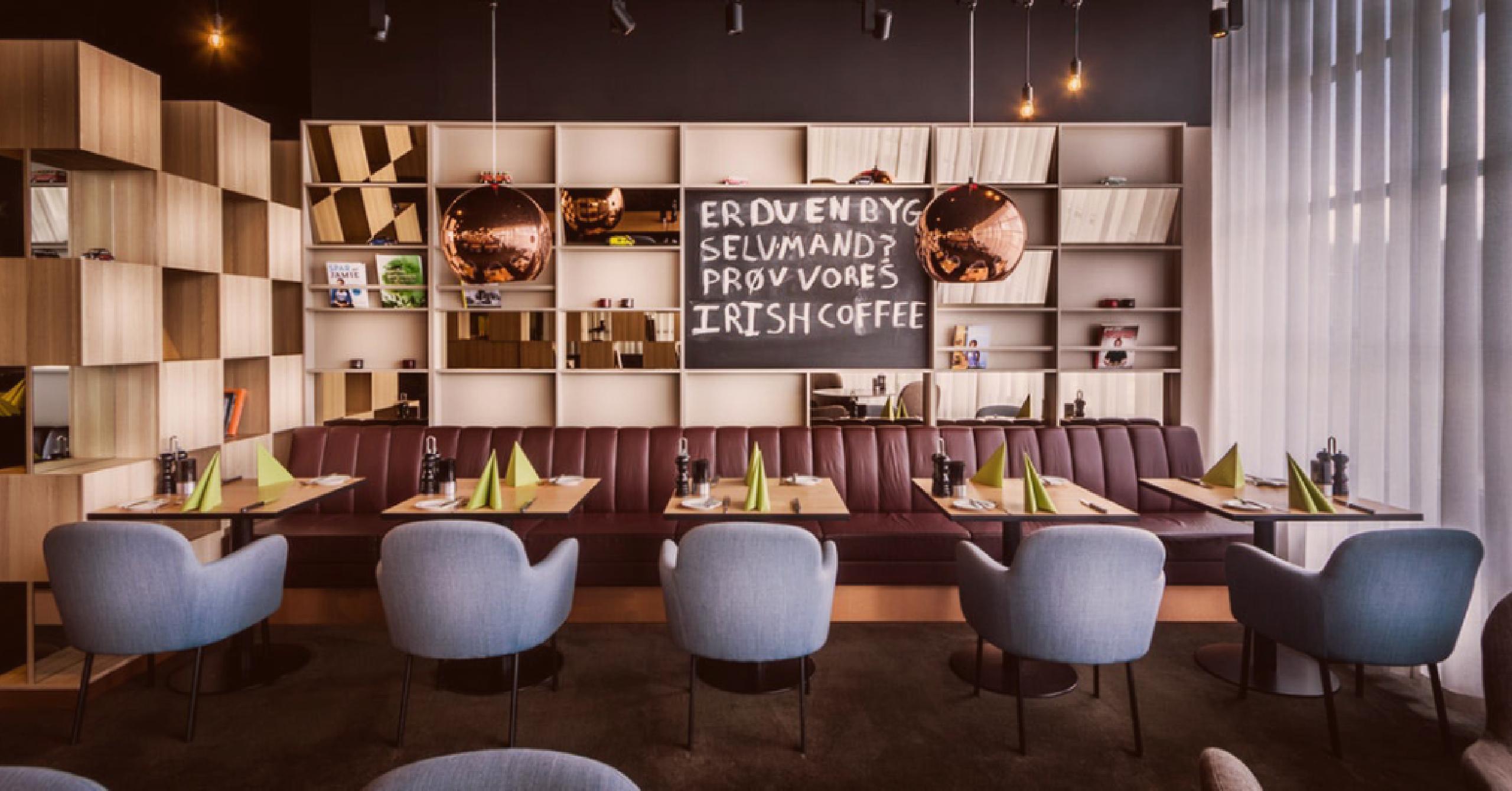 publicidade dentro do restaurante