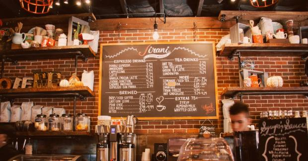 menu de parede de restaurante