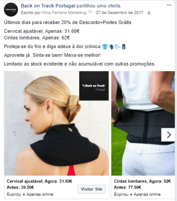 Campanha Facebook - Back on Track