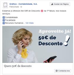 Campanha Facebook - Gráfico Contabilidade SA