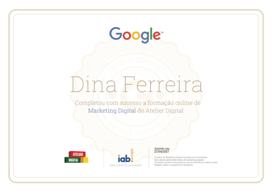 Certificado Atelier Digital
