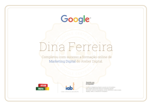 Certificado Atelier Digital