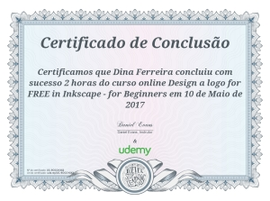 Certificado Design a logo in Inkscape