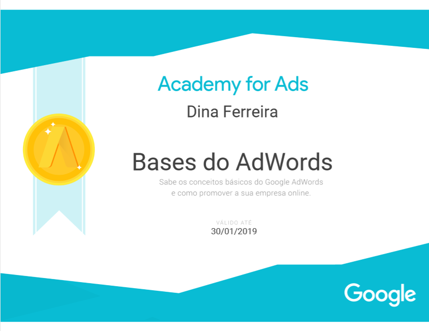 Certificado Google Adwords modulo 1