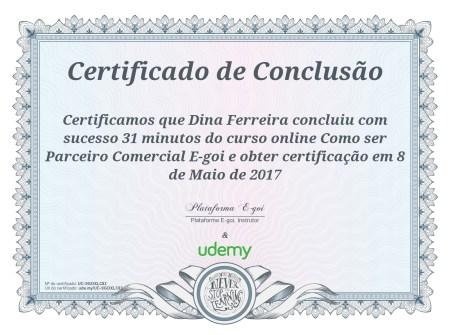 Certificado Parceiro-e-goi
