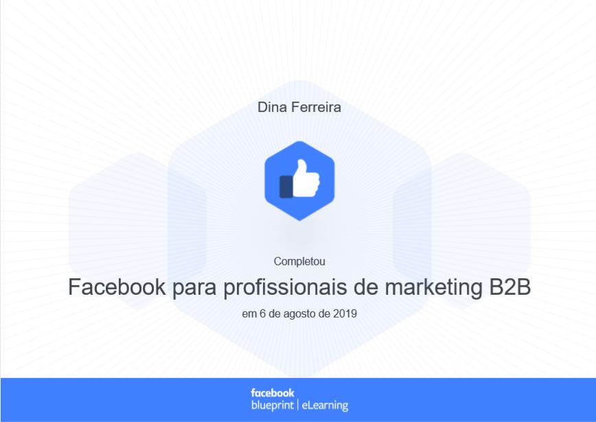 Certificado Facebook para profissionais de marketing B2B