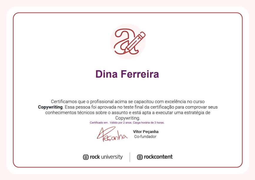 certificado copywriting