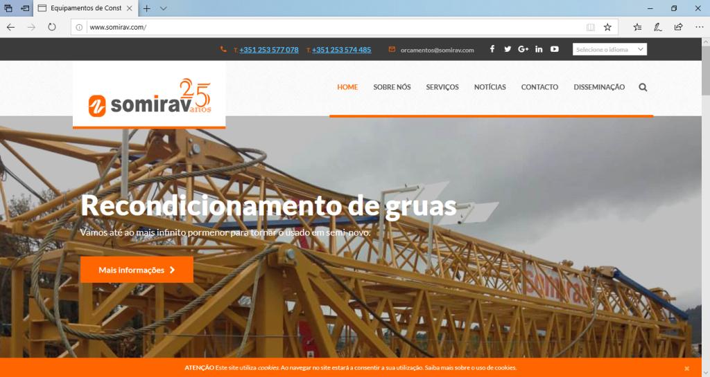 criação de conteúdos para o site