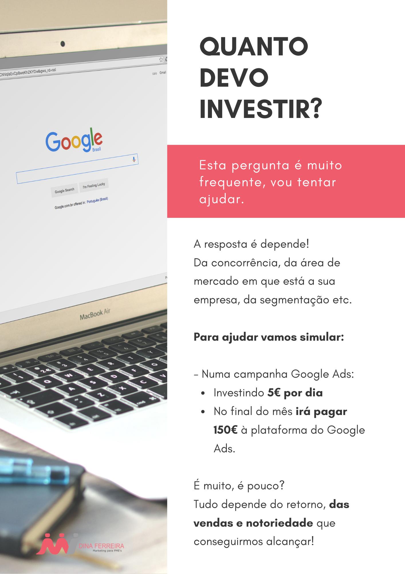 quanto devo investir em google ads