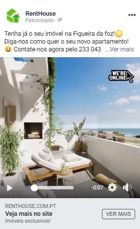 renthouse campanha de facebookads