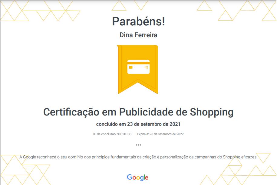 certificado em publicidade de shopping